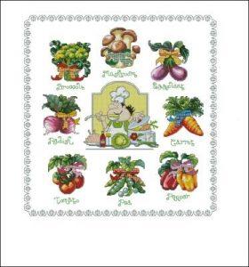овощи вышивка крестом 017