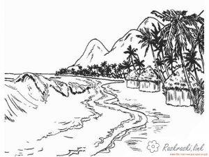 океан раскраска 021