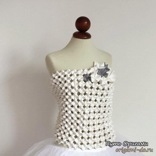 оригами в одежде 016