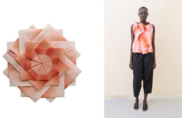 оригами в одежде 018