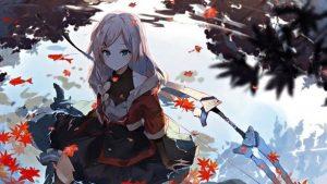 осенняя девушка аниме 017