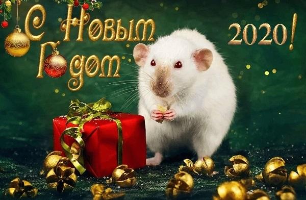 открытки поздравления с новым 2020 годом 013
