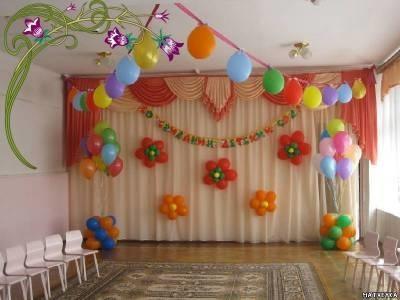 оформление музыкального зала к дню матери в детском саду своими руками 022