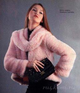 пальто из травки для женщин спицами 021