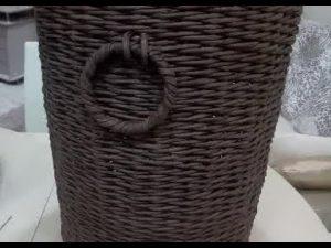 плетение из газетных трубочек ручек для корзин 021