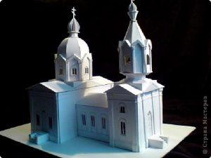 поделка храм из бумаги своими руками 023