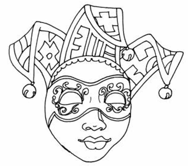 Раскраска театральные маски - самые лучшие