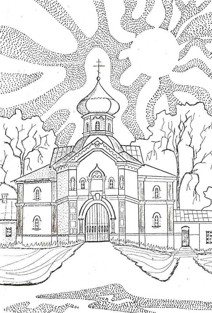 раскраска успенский собор 020