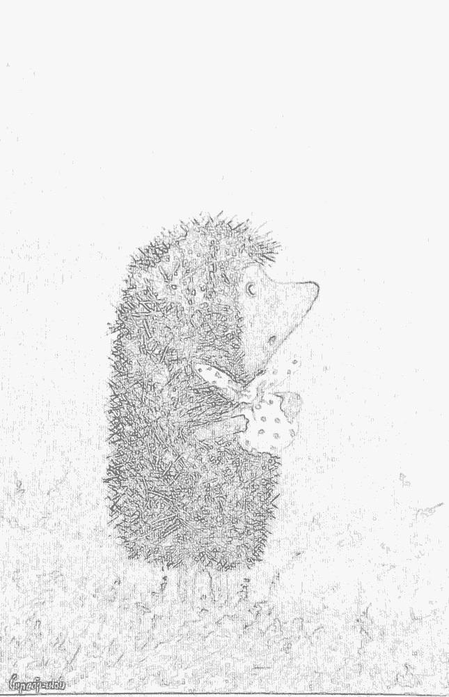 картинки ежик в тумане раскраска