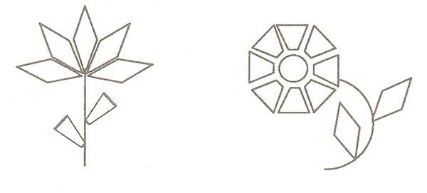 рисунки геометрические цветы 020