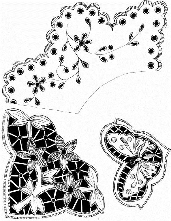 рисунки для вышивки ришелье 002