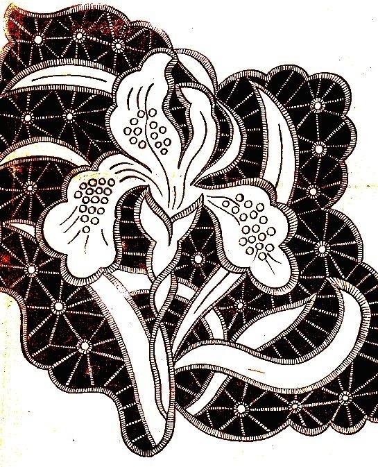 рисунки для вышивки ришелье 003