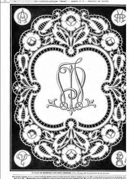 рисунки для вышивки ришелье 006