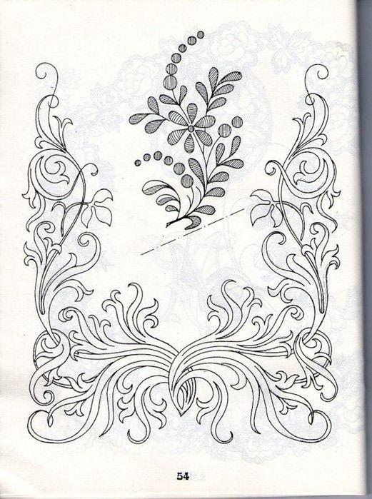 рисунки для вышивки ришелье 008