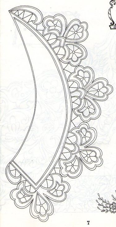 рисунки для вышивки ришелье 011