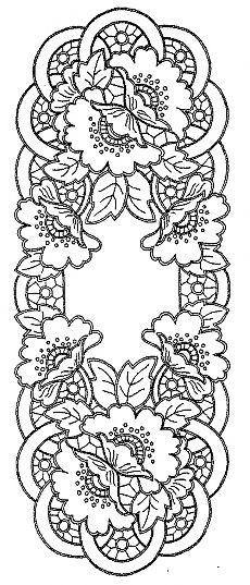 рисунки для вышивки ришелье 014