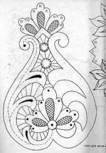 рисунки для вышивки ришелье 017