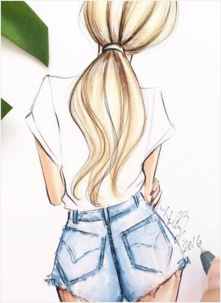 Красивые рисунки девушек сзади карандашом