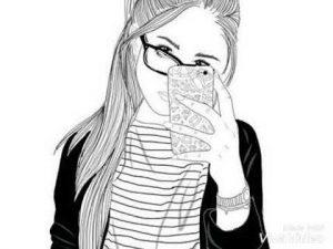 рисунки карандашом девушек сзади 024