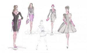 рисунки людей в одежде 022
