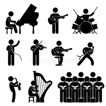 рисунки музыкантов 023