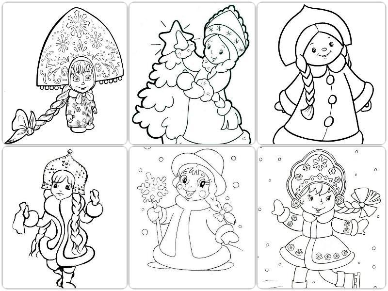 рисунки новогодних персонажей 014