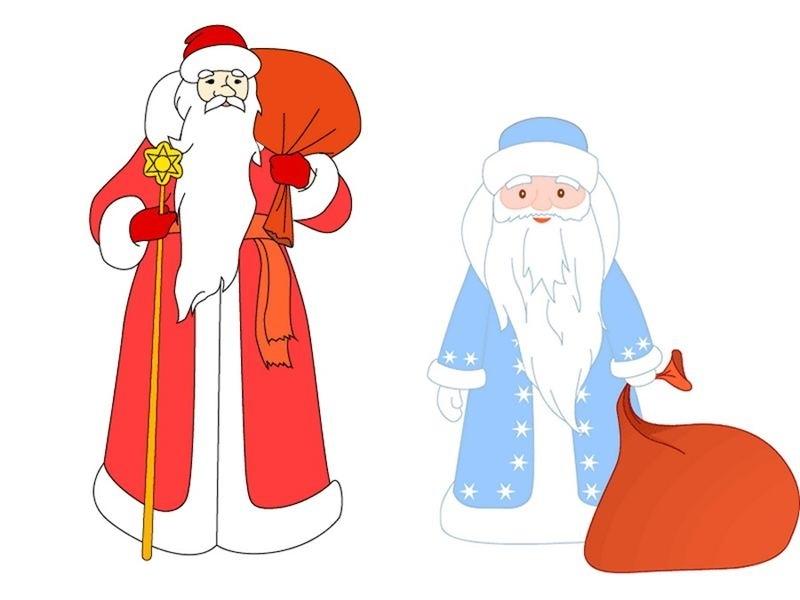 рисунки новогодних персонажей 015