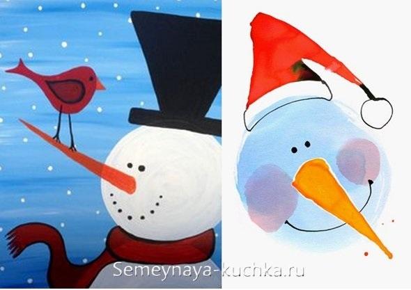 рисунки новогодних персонажей 016