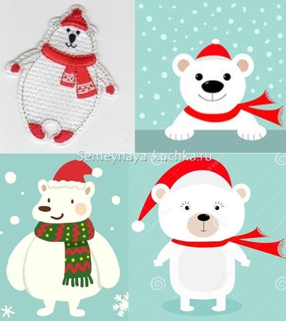 рисунки новогодних персонажей 017