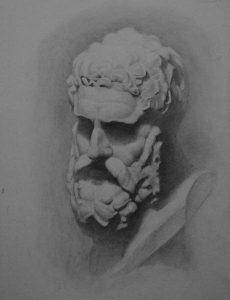 рисунок голова геракла 017