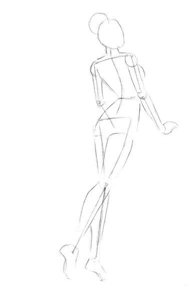 рисунок девушки по пояс 004