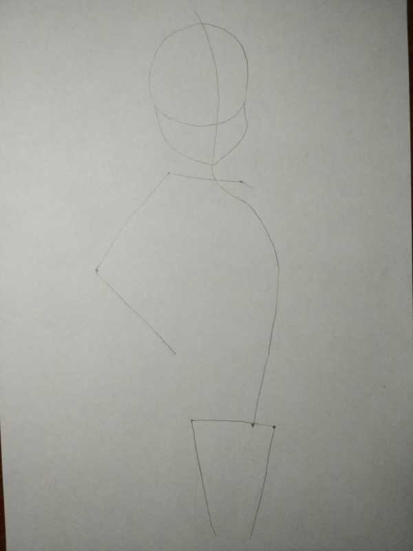 рисунок девушки по пояс 005