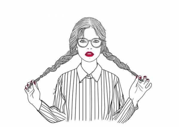 рисунок девушки по пояс 009