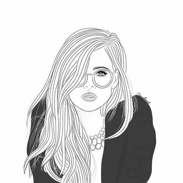 рисунок девушки по пояс 015