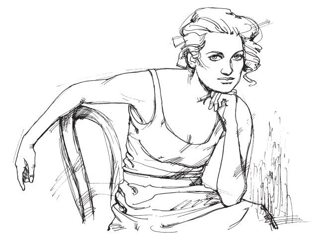 рисунок девушки по пояс 020
