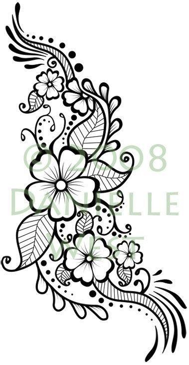 рисунок цветов хноем 019