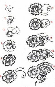 рисунок цветов хноем 022