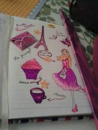 розовая тема для личного дневника 001