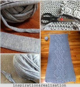 свитер из трикотажной пряжи спицами 018