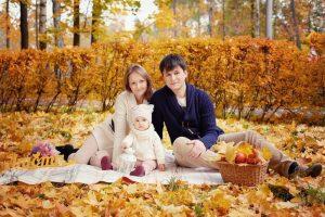 семья осенью 019