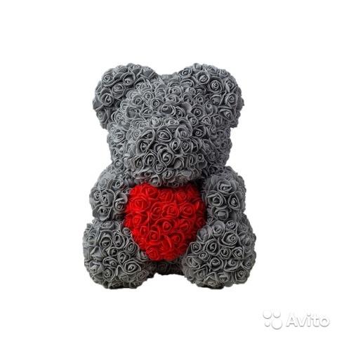серый мишка тедди 004