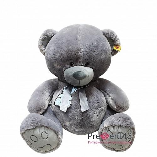 серый мишка тедди 013