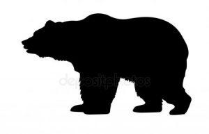 силуэт медведя белого 022