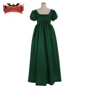 средневековое зеленое платье 023