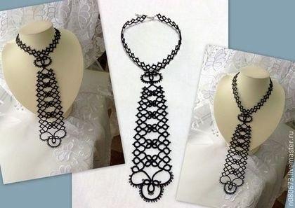 схема галстука фриволите 002