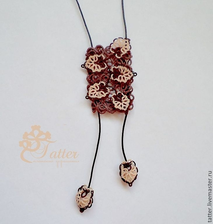 схема галстука фриволите 011