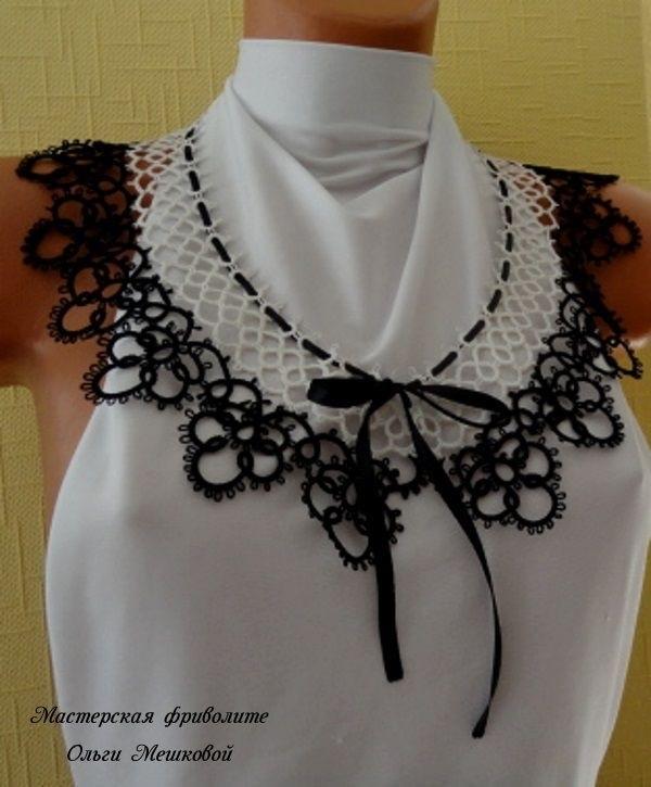 схема галстука фриволите 012
