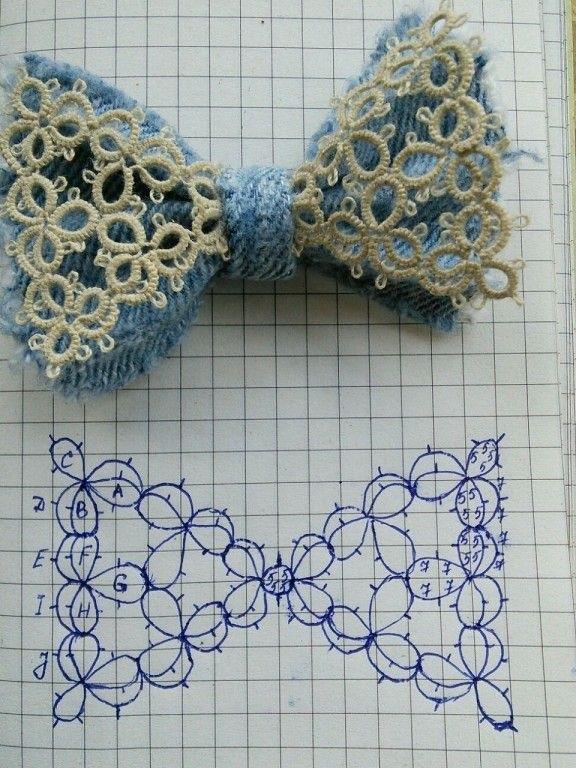 схема галстука фриволите 021