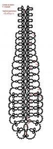 схема галстука фриволите 023