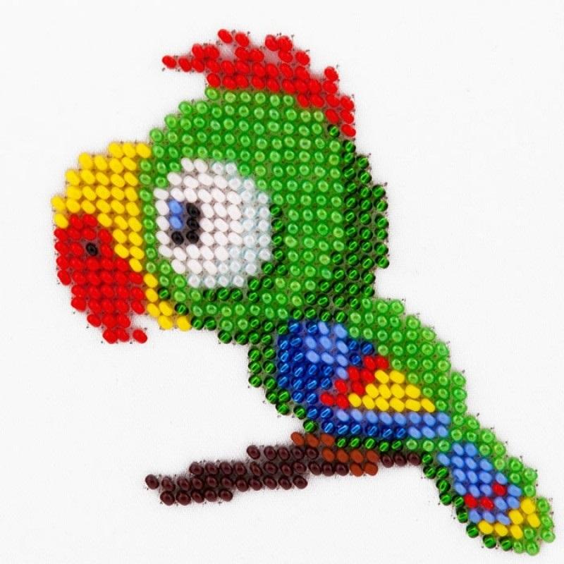 схема попугая из бисера 019